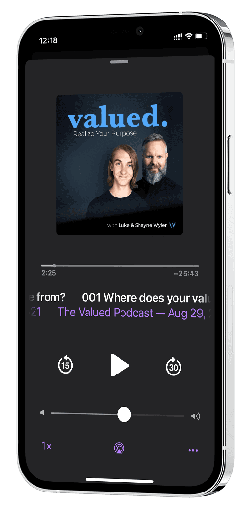 Valued Podcast iPhone